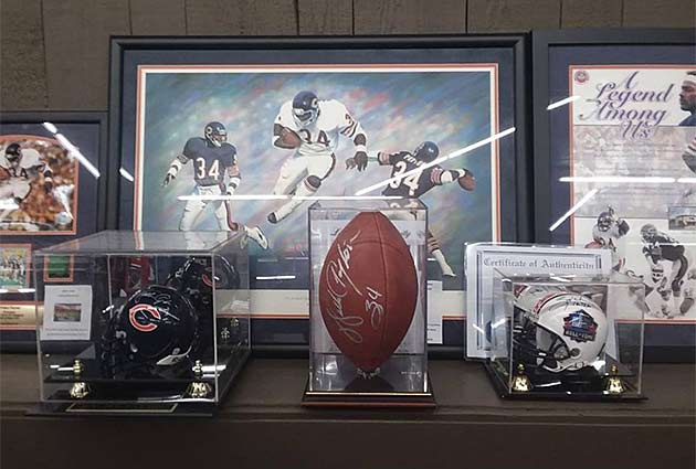 Walter Payton Autographed Items